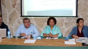 """Digna Feliz participó en  un taller sobre la """"privatización de la Salud y Seguridad Social en la República Dominicana"""" en el Centro Bonó. Foto: José de León."""