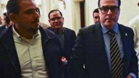 Julio Borges, presidente del Parlamento, único de los poderes controlado por la oposición. AFP