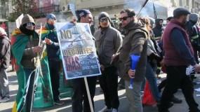 En el marco de esta huelga hubo una  marcha en Montevideo.