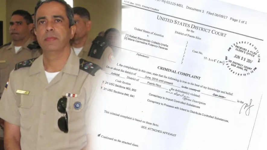 La acusación contra Collado está firmada por un agente especial de la DEA.