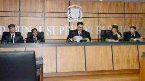 Miembros del Tribunal Superior Electoral. Foto de archivo.