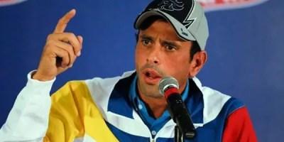 """Henrique Capriles, pidió a los partidos opositores un """"debate urgente"""". Archivo."""