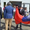 La delegación de China Taiwán  bajó ayer su bandera tras el anuncio del término de las relaciones diplomáticas.  Ana mármol.