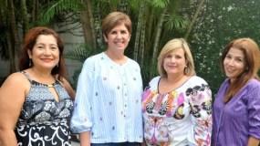 Elizabeth Montenegro, Mariella Cantisano, Tammy de Melgen y Claudia Prat.