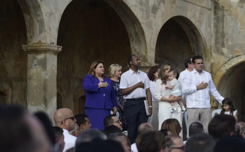 Puerto Rico conmemoró un año del paso del huracán María. AP