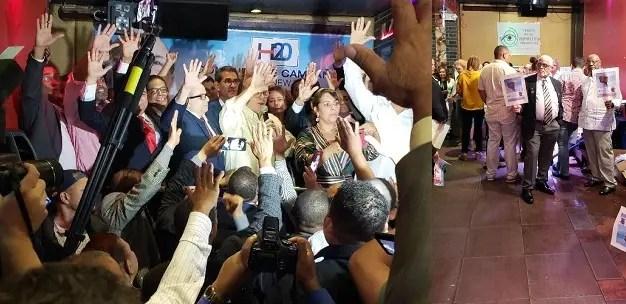 Hipólito Mejía durante el encuentro con seguidores en la ciudad de Nueva York.