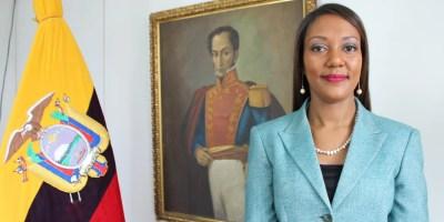 Elizabeth Méndez, encargada de negocios de Ecuador en Caracas.