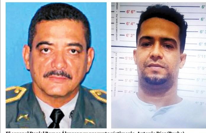 El coronel Daniel Ramos Álvarez y su presunto víctimario, Antonio Díaz (Buche).