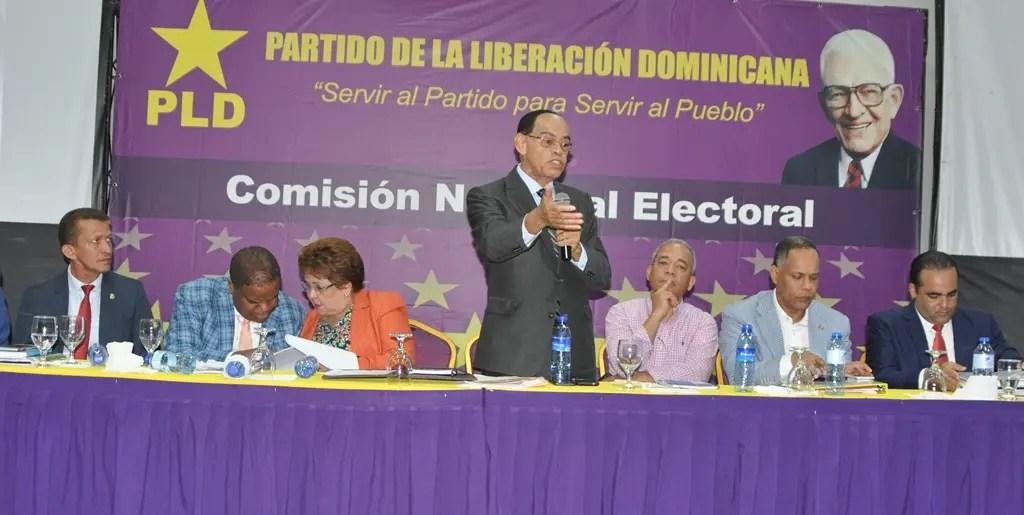 Comisión Nacional Electoral del PLD conoce impugnaciones a precandidatos