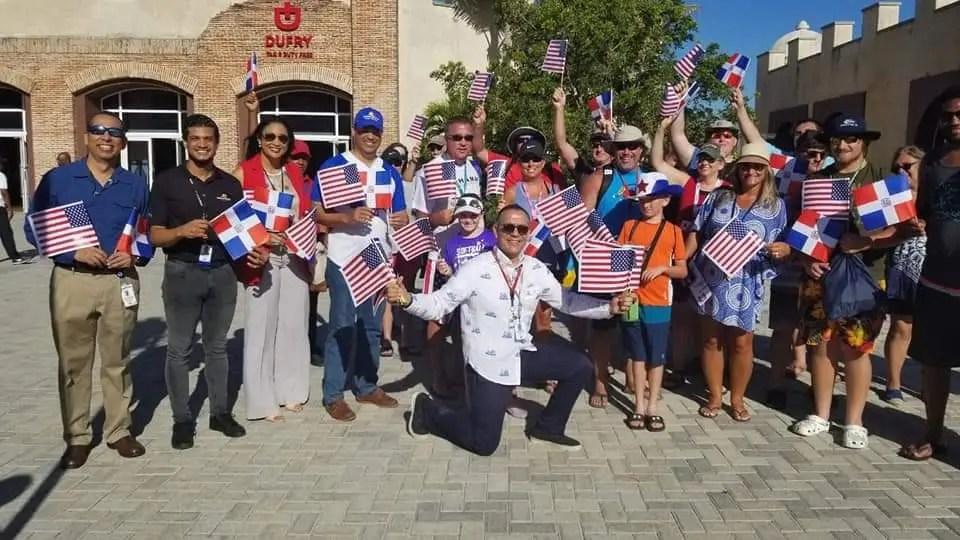 Cruceristas estadounidenses llegan a Puerto Plata en su día de Independencia