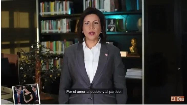 Margarita Cedeño pide a Leonel y Danilo dejarse guiar por el amor a la patria