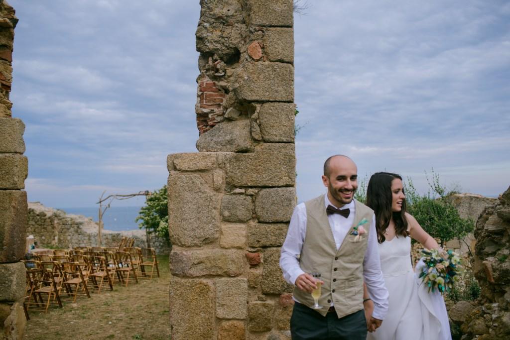 boda en palamós, costa brava, girona, el dia de, la fosca, boda en unas ruinas