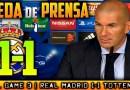 VÍDEO | Rueda de prensa de Zinedine Zidane tras el partido ante el Tottenham