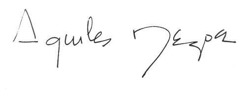 Firma de Aquiles Nazoa