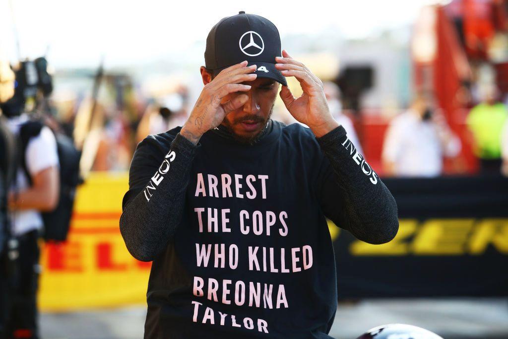 Lewis Hamilton podría ser sancionado por pedir justicia por el asesinato de Breonna Taylor