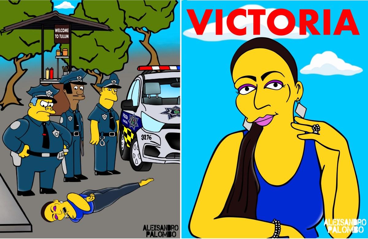 """El asesinato de la inmigrante Victoria Salazar llega al universo de Los Simpson con una consigna: """"Justicia"""""""