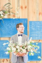 Modern Architecture Inspired Wedding Ideas via TheELD.com