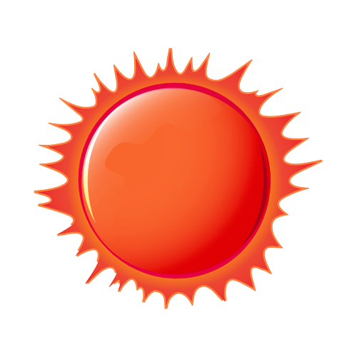 red sun icon