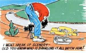 I won't speak of scenery...