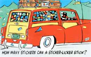 How Many Stickers can a Sticker Licker Stick?