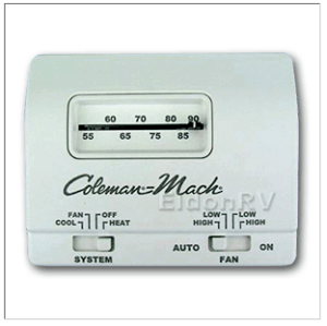 Thermostat, Standard, Analog 12v 6wire HeatCool Coleman
