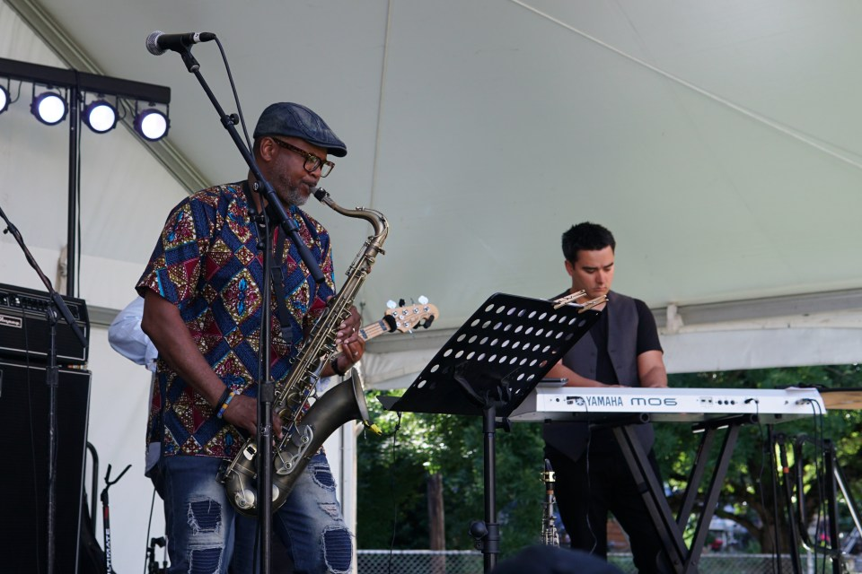 "Eldon ""T"" Jones Tenor Saxophone Zack Poelwijk Keyboard"
