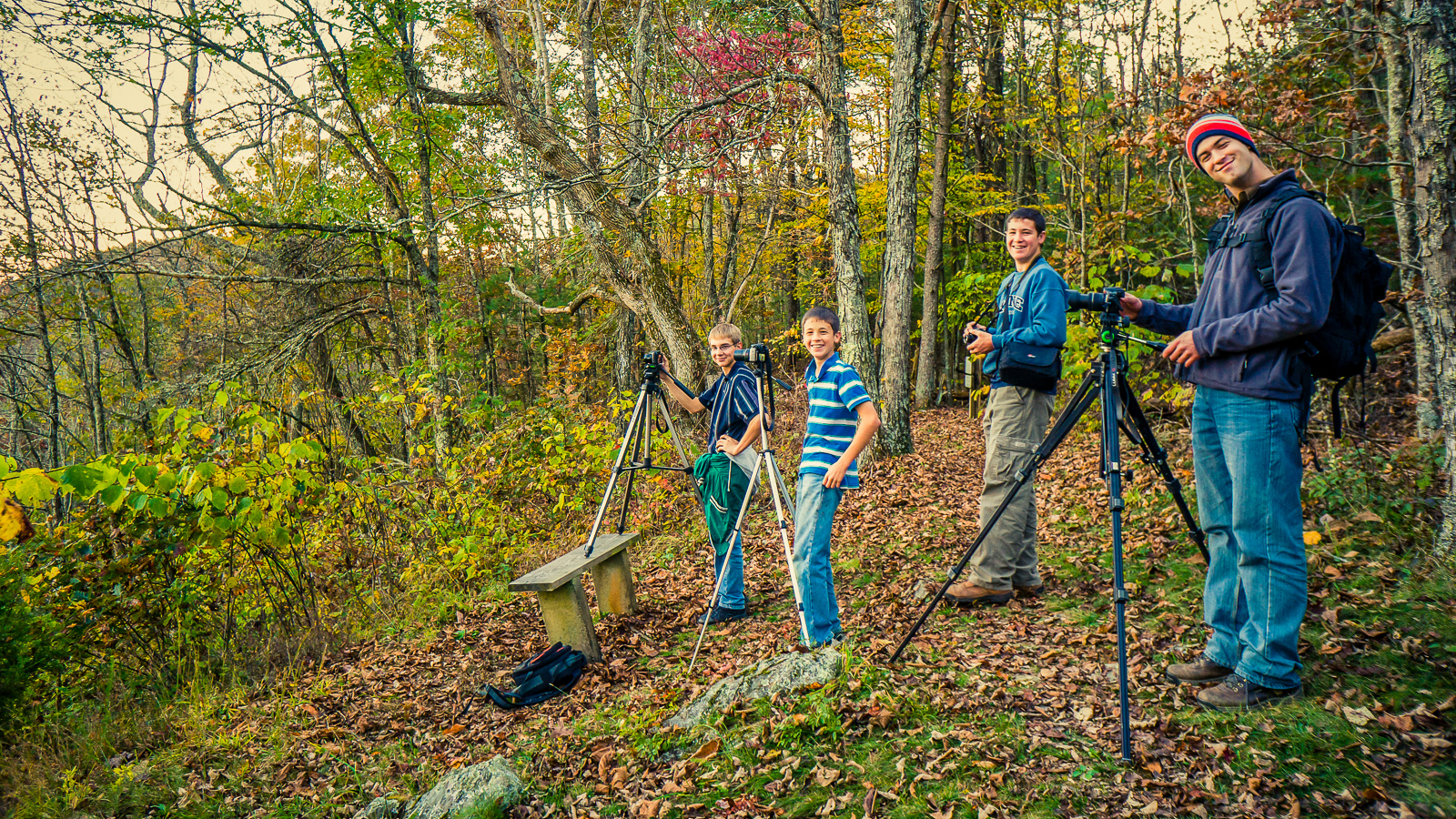 Four Fine Fellows Photographing
