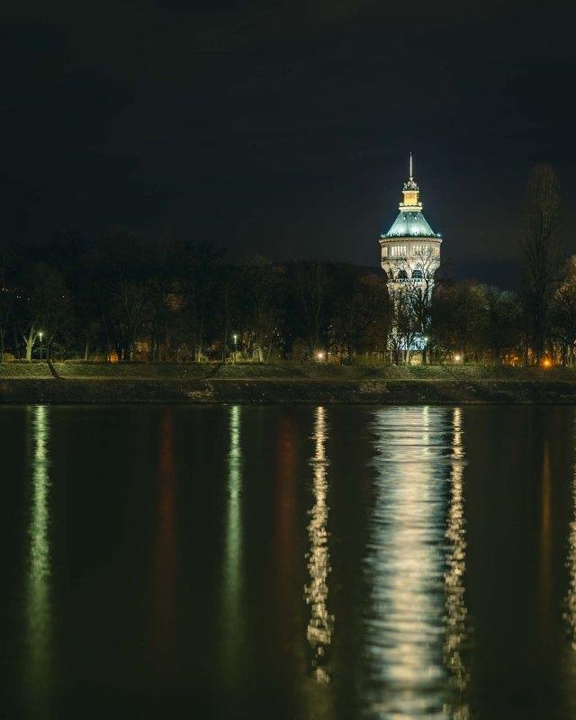 Margaret Island Water Tower at Night