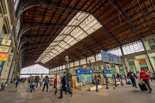 Inside the Budapest Train Station