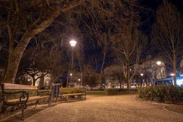 Liberty Square at Night