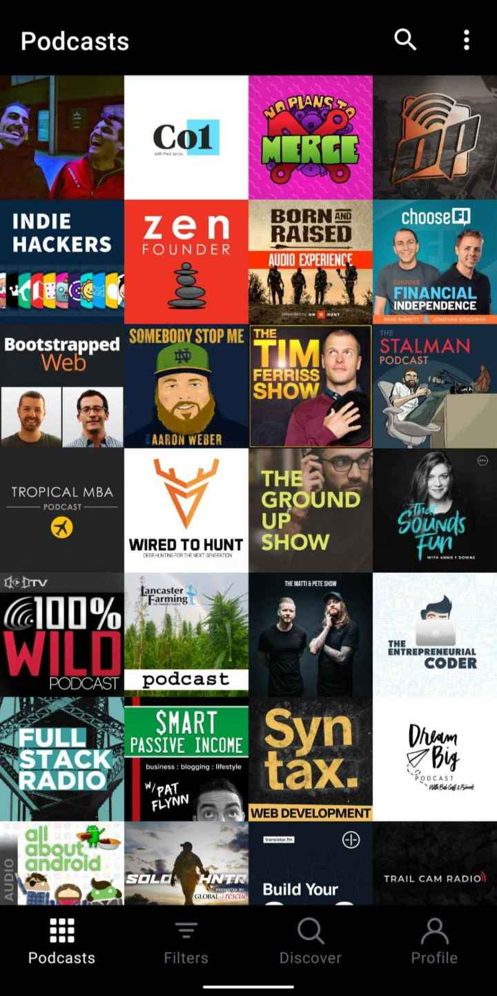 Screenshot from my Podcast App
