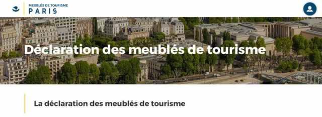 déclaration meuble tourisme paris