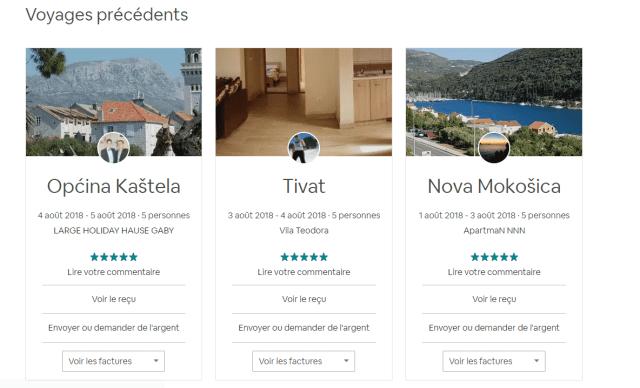 airbnb facture location saisonniere