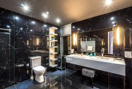 salle de bains éclairage location vacances