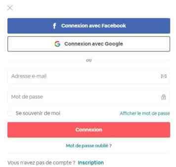 Interface de connexion à mon compte Airbnb, le mail reste le plus fiable en voyage à l'étranger