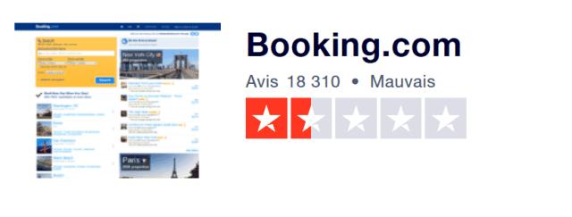 remboursement sur booking