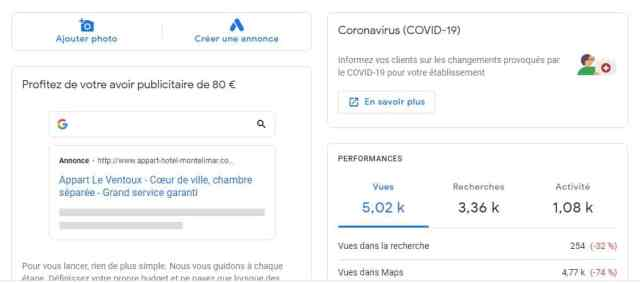 Google My business location saisonniere