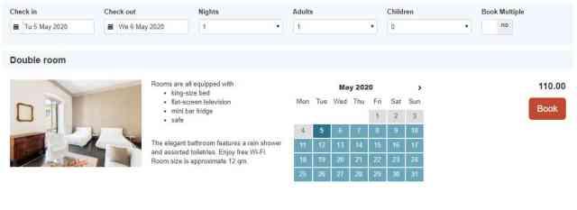 Exemple de l'interface de Beds24