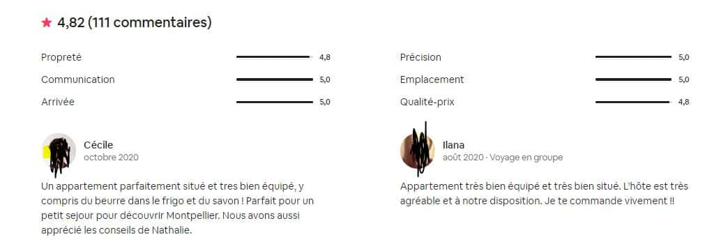 Commentaire Airbnb