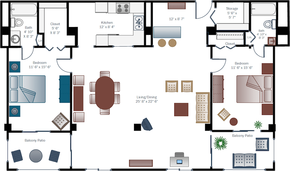 El-Dorado_Two-Bedroom-Deluxe_floor-plan