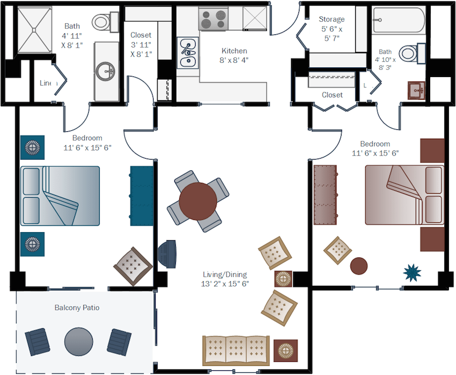 El-Dorado_Two-bedroom-floor-plan