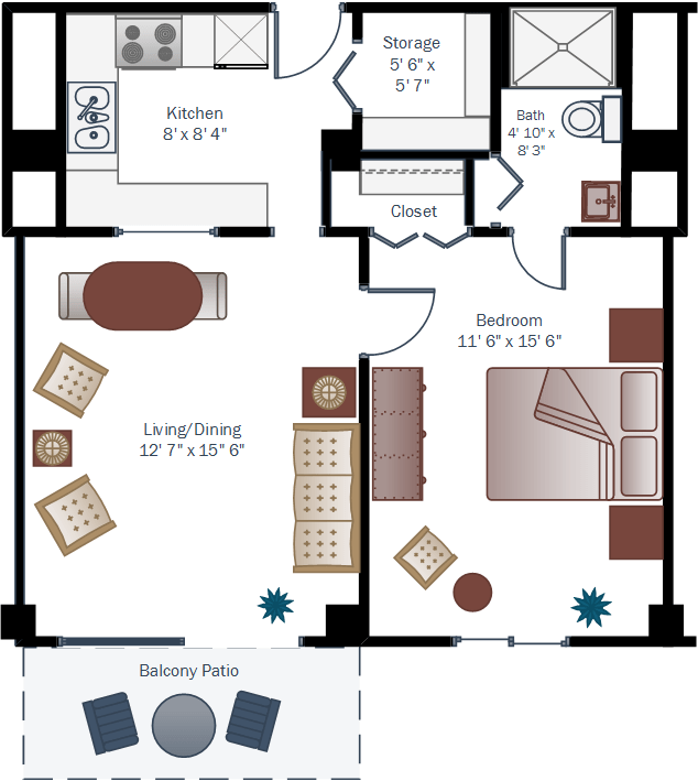 El-Dorado_one-bedroom-floor-plan