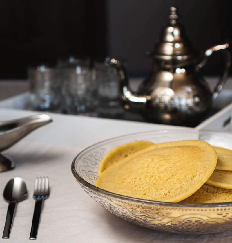 Baghrir ou crêpe mille trous marocaine