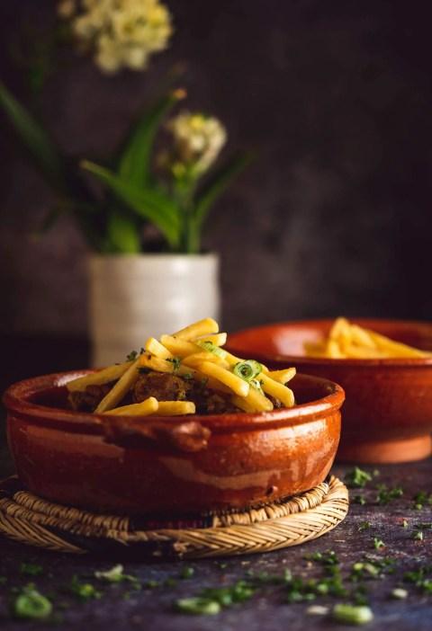 Tajine poulet frites marocain algérien
