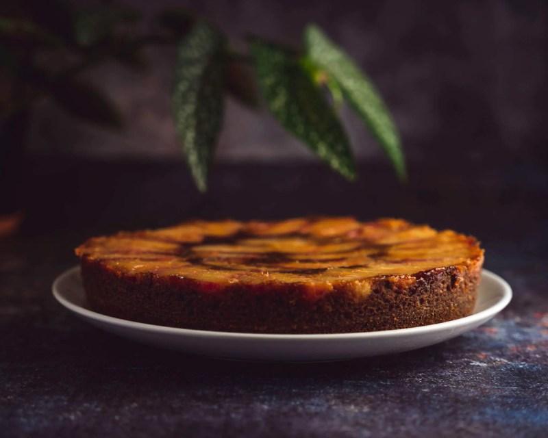 gâteau renversé nectarine et yaourt grec