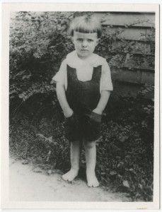 Ray Bradbury a los 3 años