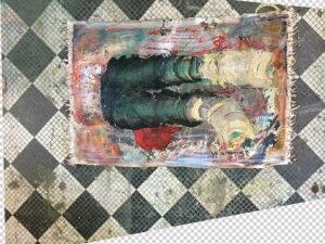 Eleanor Aldrich, oil, silicone, and enamel on canvas