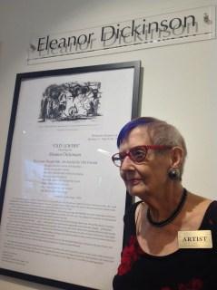 Eleanor Dickinson 2014 Old Lovers exhibitBurlingame, California