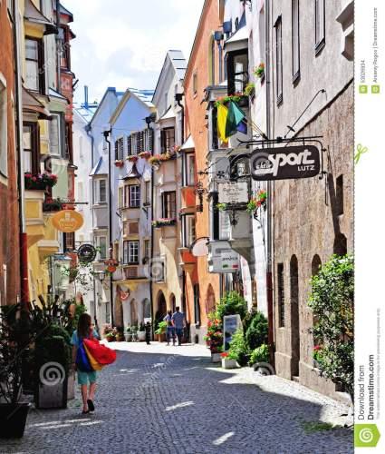 shopping-street-hall-ancient-austrian-city-austria-june-view-pedestrian-town-june-small-touristic-town-nothern-53026934