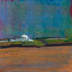 © 2015 Eleanore Ditchburn, Spanish City, Acrylic on Gessobord 10 x 10 cm